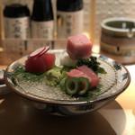マグロ 日本酒 吟醸マグロ - マグロ刺身盛り
