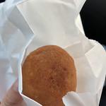 豆腐庵山中 - うのはなあんドーナツ150円。これは時間経って食べたのでプレーンほどの生地の感動はなかった。でも中のあんこがきんつばくらいの粒の残り具合でかなり好み。