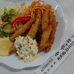 丹沢湖レストハウス - わかさぎフライ810円(税込)熱くて、旨くつ、心地よい苦味。