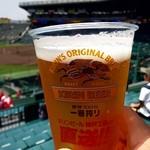 阪神甲子園球場 - ドリンク写真:生ビール 750円