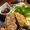 寿楽の息子 - 料理写真:いけだ牛極メンチカツ650円割ってみました