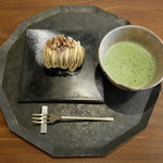 銀座風月堂 - モンブラン 抹茶セット