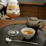 銀座風月堂 - 風月堂パフェ 和紅茶セット
