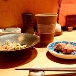 串焼とこころ 克 - 串焼とこころ 克@新潟 情け島 お湯割り(450円)