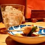 串焼とこころ 克 - 串焼とこころ 克@新潟 赤霧島 ロック(500円)