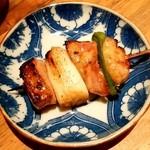 串焼とこころ 克 - 串焼とこころ 克@新潟 軍鶏ねぎま串(280円)