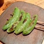 串焼とこころ 克 - 串焼とこころ 克@新潟 スナップエンドウ串(320円)