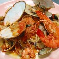Sea Song - 魚介のトマトソース・スパゲティ