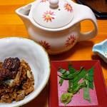 まる勝遊食膳 - ビビンバはお茶漬けでも頂けます。