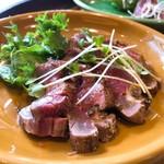 肉バル アンカーグラウンド - 炙り牛ヒレ山椒風味