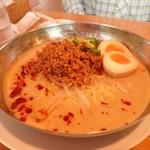 萬福食堂 - 冷やしタンタン麺 煮玉子トッピング