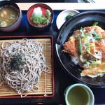 レストラン白雲谷 - とんかつと蕎麦のセット