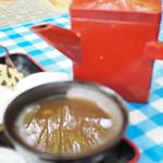 深山茶屋 - そば湯