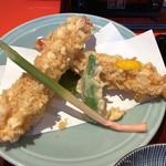 上野藪そば - 天せいろうの天ぷら