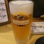 ホルモン焼肉 肉の大山 - 生ビール 518円