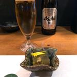 しんどふに - お通しと生ビール