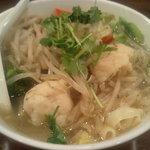 刀削麺荘 唐家 - 山盛り野菜刀削麺