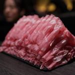 極薄ラムしゃぶ専門 工藤羊肉店 - 二皿目がドカンと登場(汗)