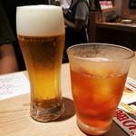 SUSHI TEMPRA すし天 - 生ビール・ウーロン茶
