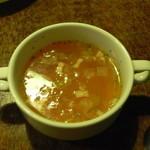 10701313 - スープは少し濃厚で美味しかった。