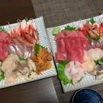 魚誠 - 料理写真:自宅のお皿に盛ってみました。