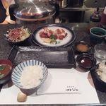 とんかつ マンジェ - 「リッチとんかつ定食」(1,520円込)(2019年令和元年5月)