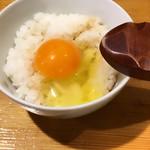 鳥吉 - 卵かけご飯アップ