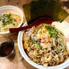 麺小屋 てち - 料理写真:みそら〜めん 大(腹ぱんぱん) もりだくさん肉好き&もりだくさん野菜好きトッピング ※野菜は別皿