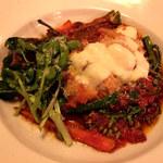 オラ アチャホ - 淡路鶏カツレツ モッツアレラとトマトソースで