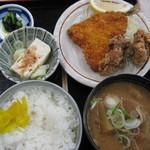 みどり湖パーキングエリア(上り線)白樺亭 - 豚汁定食 650円
