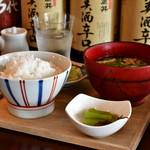 酢重DINING - 【サバの信州味噌煮 定食@1,473円】主賓以外がまず最初に配膳された。