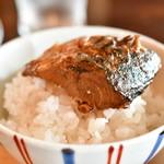 酢重DINING - 【サバの信州味噌煮 定食@1,473円】オーバー・ザ・ライス