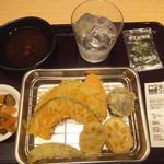 天ぷらスガキヤ - 自分で頼んだ野菜天盛合せ&焼酎で521円(2019.4.6)