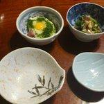 錦寿司 - 突き出しです。