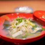 二条城ふる田 - 料理写真:蛤、 花山椒、 若芽、 牛蒡、 山菜