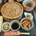 岡山 - 料理写真:もりそばセイロセット 1,200円(税込)と、ミニ親子丼400円