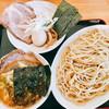 Ramemmarujiruya - 料理写真:つけ麺 850円、あつ盛り 50円、特製トッピング 280円(チャーシュー、味玉、ネギ、メンマ、海苔2枚)