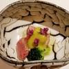 懐石、おか多 - 料理写真:ランプ 汲み湯葉豆腐 空豆のソース