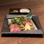 牛タン 肉居酒屋 金べこ - 厚切り牛タン 九条ねぎ焼き