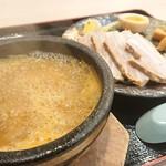 札幌海老麺舎 - 濃厚海老つけ麺+肉増し