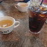 ジョジョズ カフェ&バー - セットのドリンクとスープ