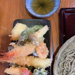 和み蕎 たつ - 天ぷら盛り合わせ
