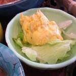 ラグーン - サラダはカボチャのクリームチーズサラダ、やや甘めのサラダでした