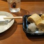 居酒屋わさび - 料理写真:出し巻きはふわふわで美味しい。