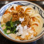 丸亀製麺 - ということで、今回は冷え冷えな「冷やしうま辛坦々うどん」650円を注文。