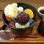 二ノ丸茶屋 - クリームあんみつ 500円