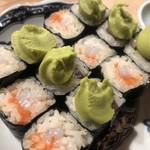 107075371 - あて寿司。イカ明太と、アボカドきゅうり。
