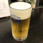 長浜ラーメンとん吉 - ドリンク写真:2019年5月3日  生ビール 中(アサヒスーパードライ)500円