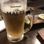 107083719 - 3杯目のビールです。