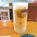 淡島寿司 - キンキン冷え生